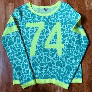 Juicy Couture Animal Print Sweater Sz M